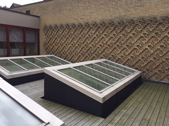 Fire Resistant Glass Roofing